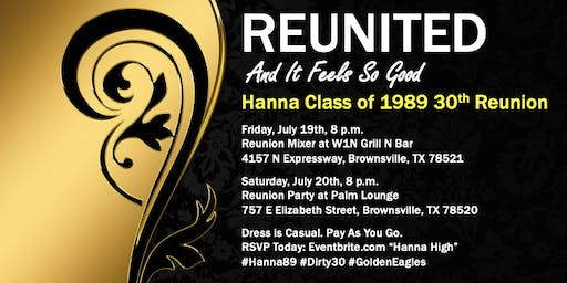 Hanna High Class of 1989 Reunion