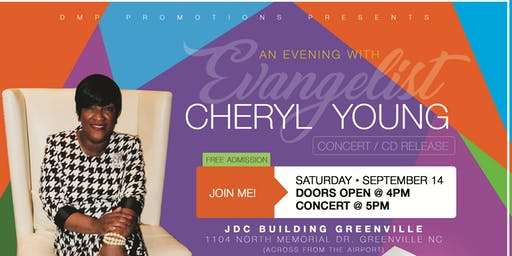 DMP PRESENTS AN EVENING WITH CHERYL YOUNG CONCERT/CD RELEASE