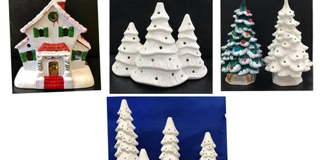 Christmas in July Ceramics (ages 6+) Christmas Trees and Figures tickets