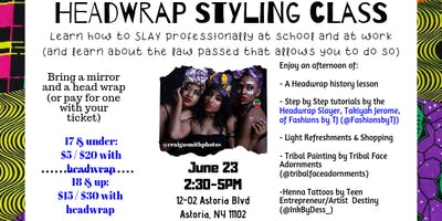 Headwrap Styling Class: Learn how to slay professionally at school and work