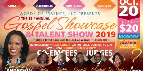 "Words of Essence's 14th Annual ""Gospel Showcase & Talent Show 2019"" tickets"
