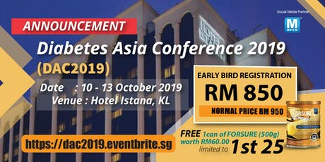 DIABETES ASIA CONFERENCE 2019 (DAC 2019) tickets