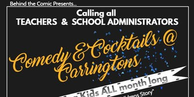 Summer Series -Comedy & Cocktails ODE TO TEACHERS!