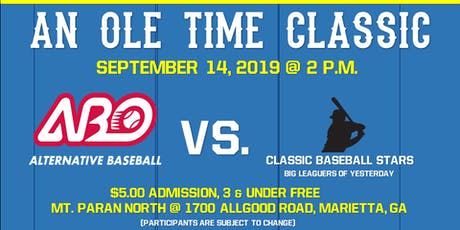 An Ole Time Classic ~ Team Alternative Baseball vs. Classic Baseball Stars tickets