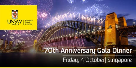 UNSW 70th Anniversary Singapore Gala Dinner tickets