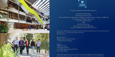 UNIVERSITY OF AUCKLAND INFO SESSION FOR PROSPECTIVE MEDICAL STUDENTS tickets