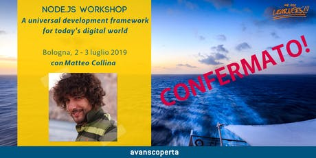 Node.js Workshop - Matteo Collina - 2019 tickets