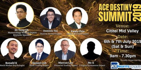 VIP Entry To ACE Destiny Summit KL 2019 tickets