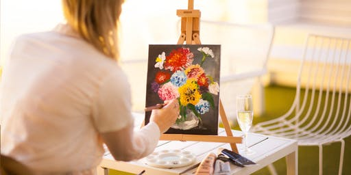 Flower Bouquet Finger Painting Class