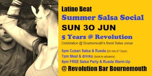 LATINO BEAT Summer Salsa Social @ Revolution Bar Bournemouth SUN 30 JUN