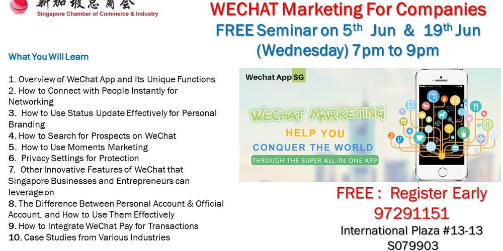 Wechat Marketing For Personal & Business (FREE) Tickets