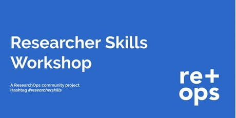 Research Skills Framework Workshop bilhetes