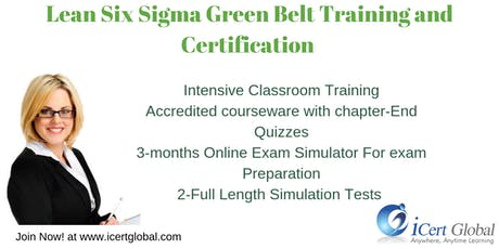 Lean Six Sigma Green Belt Training and Certification Course in Princeton, NJ, USA tickets
