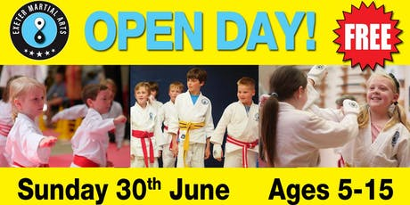 Exeter Martial Arts Open Day Sunday 30th June tickets