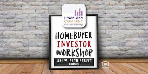 Homebuyer Workshop:  Baltimore Rowhome Finders - 6/22/2019