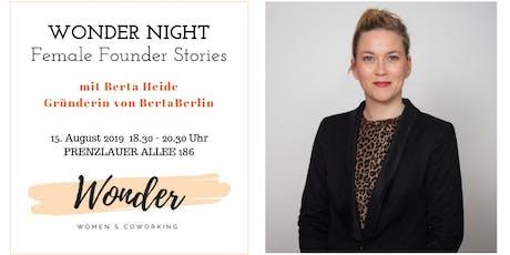WONDER NIGHT - Female Founder Stories Tickets