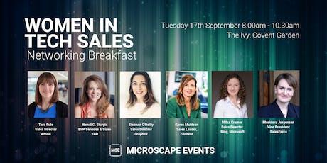 Women In Tech Sales Networking Breakfast - The Ivy, London tickets