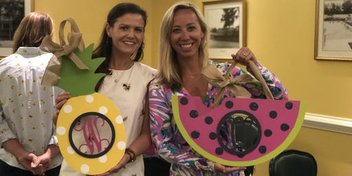 First Impressions Monogram Paint Party