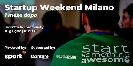 Startup Weekend Milano - 1 mese dopo biglietti