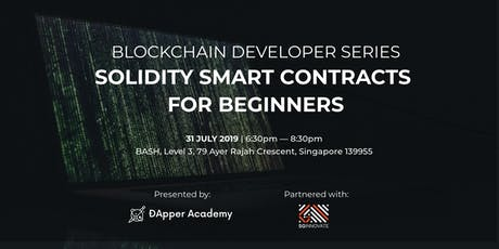 Solidity Smart Contracts for Beginners tickets