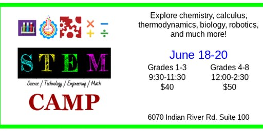 Summer STEM Camp grades 1-3