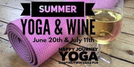 Summer Yoga and Wine 2 Date Event tickets