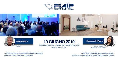 FIAIP ROMA - EVENTO FORMATIVO GRATUITO 19 GIUGNO 2019 biglietti
