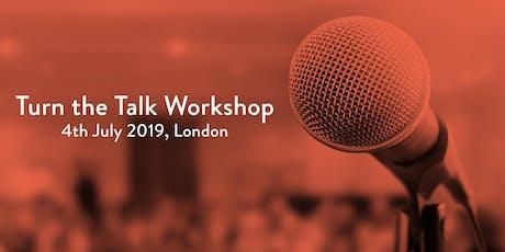 Turn the Talk Workshop tickets