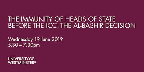 The Immunity of Heads of State Before the ICC: The Al-Bashir Decision tickets
