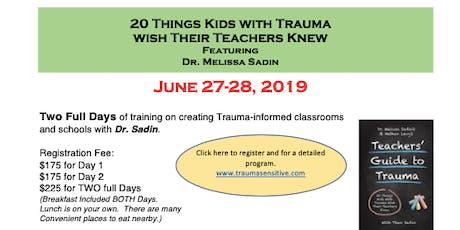 Creating Trauma Sensitive Schools tickets