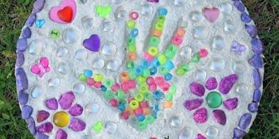 Hand Print Garden Stone for Kids