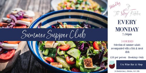 Summer Supper Club every Monday @ Uva Wine Bar, Hitchin