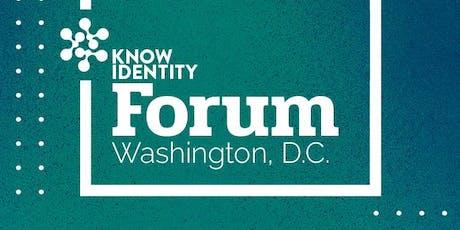 KNOW Identity Forum DC: Innovation in Identity tickets