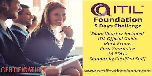 CP ITIL Foundation 2 Days Confirmed Classroom in Los Angeles(2019)