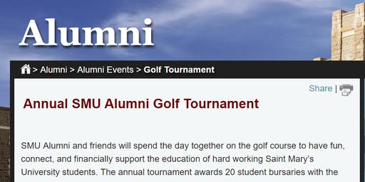 Saint Mary's University Alumni Golf Tournament