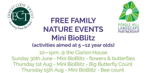 Free Family Nature Event - Mini BioBlitz - flowers & butterflies count