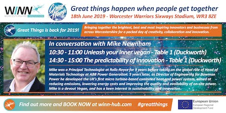 In conversation with Mike Newnham; Unleash your inner vegan  tickets