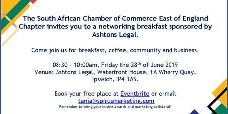 South African Chamber of Commerce - East of England Chapter networking breakfast tickets