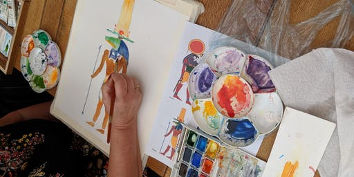 Watercolour Painting Skill Share and Open Studios
