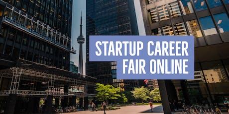 Startup Career Fair Online: Talent Registration tickets