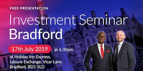 Bradford Investment Seminar on Buy2LetCars tickets