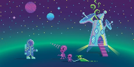Design your own Space Pixel Art tickets