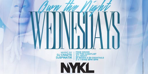 Wednesday OPEN BAR Happy Hour Tampa: We Own Wednesdays