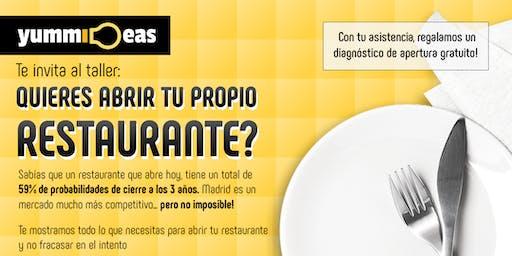 ¿Quieres abrir tu propio restaurante?
