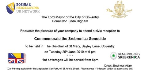 Coventry Remembers Srebrenica tickets