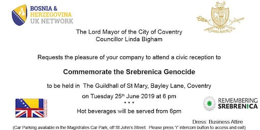 Coventry Remembers Srebrenica