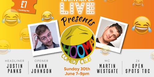 Warwick St Live Presents Hooma Comedy Club 30th June