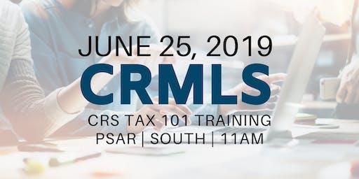 CRMLS: CRS Tax 101 Training