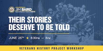 "Veterans History Project Workshop:  ""Recording our Veterans' Stories"""
