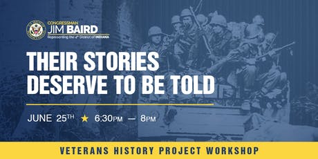 "Veterans History Project Workshop:  ""Recording our Veterans' Stories"" tickets"